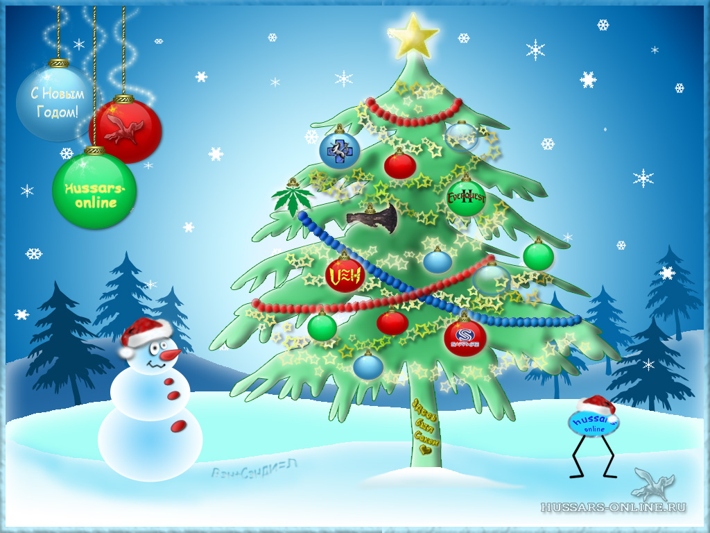 Плакаты в новым годом с елкой